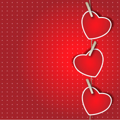 Three Hearts background