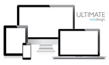 Ultimate web design electronic devices vector EPS10