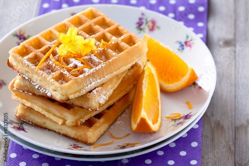Orange and Waffles