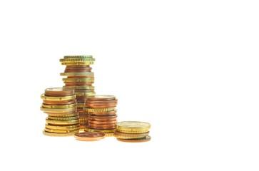 Türme von Münzen