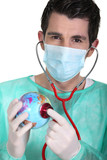 General practitioner with globe