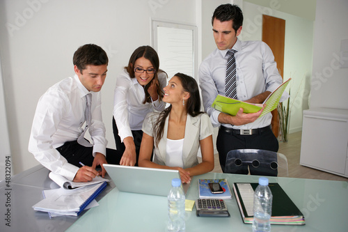 Business group preparing a proposal