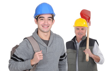 Llaborer with his foreman