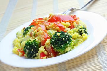 Fresh kuskus salad