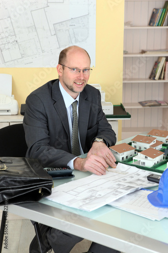 Portrait of an architect in his office