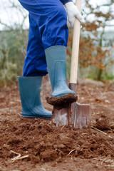 Close up of a digging