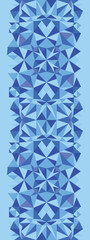 Vector blue triangle texture vertical seamless pattern