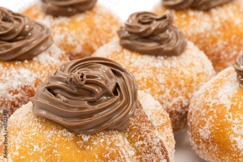 Krapfen with chocolate