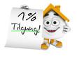Kleines 3D Haus Orange - 1 Prozent Tilgung