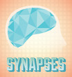 Abstract Brain Synapses Icon and Wallpaper