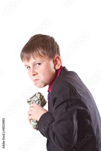 boy with money bag