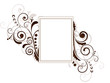 Floral frame with swirls and place for text