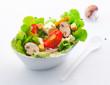 Fresh mixed salad with mushrooms