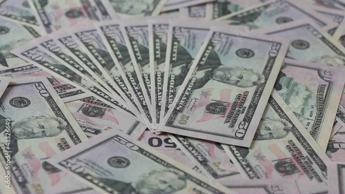 Fifty dollars banknotes background