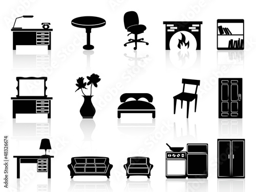 black simple furniture icon