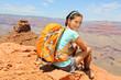 Grand Canyon hiker portrait.