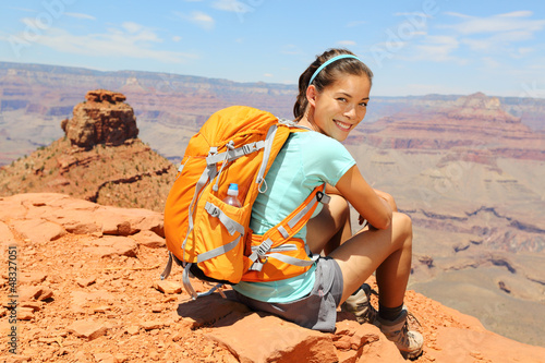 Grand Canyon hiker portrait.