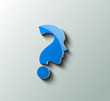 question mark icon, vector