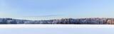 Fototapety Winter lake panorama, Finland