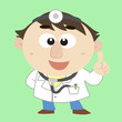 Doctor ,Cartoon Character, Vector Illustration