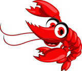 red shrimp cartoon