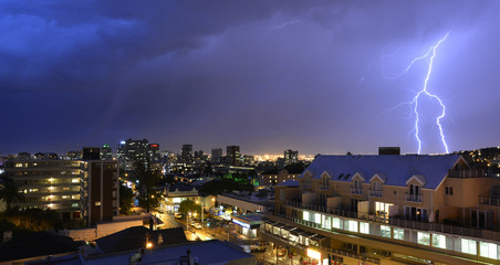 Lightning Storm over cape town