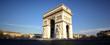 Panoramic view of Arc de Triomphe