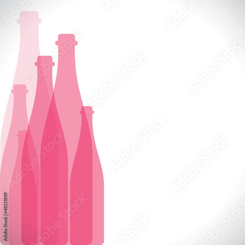 pink bottle background stock vector