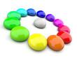 3D Farbkreis aus Tropfen 4