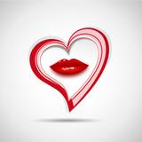 Fototapety Vector logo kiss the heart