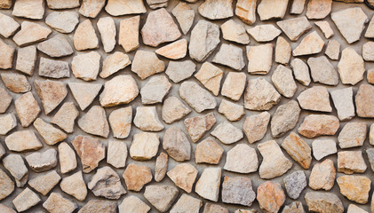Landscape shot of a wall from stones