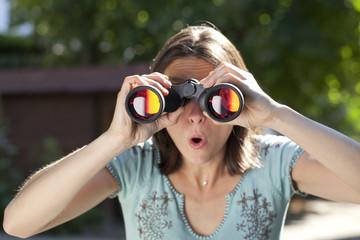voyeurism with binoculars