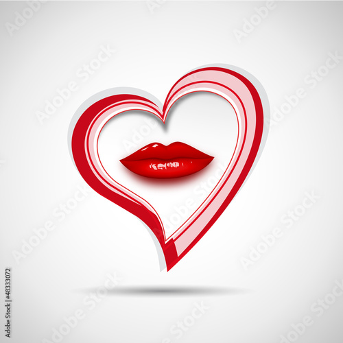 Vector logo kiss the heart
