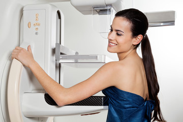 Female Taking Mammogram X-ray Test
