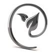 Silver leaf icon