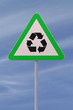 Recycling Road Sign