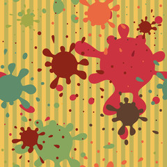 blots spattered seamless pattern