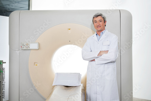 Doctor Standing Hands Folded