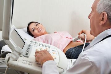 Female Having Ultrasound