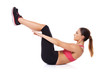 Woman execising her abdominal muscles