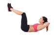 Fit woman exercising her abdominal muscles