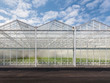 Front view of a new greenhouse