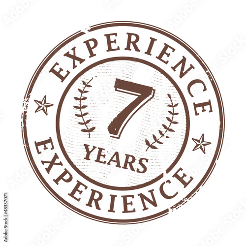 Stamp with the text 7 Years Experience written inside, vector