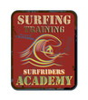 Surfing Training abstract, vector illustration