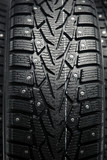 protector and snow spikes of winter tires poster