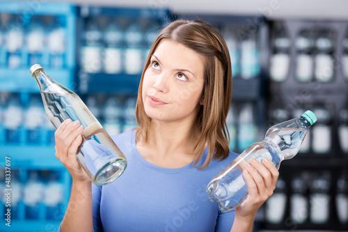 glasflasche oder plastikflasche? - 48337697