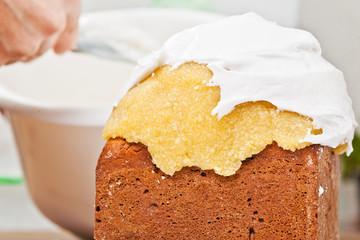 Cream on cake icing