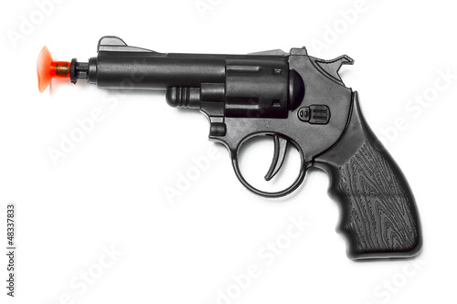 gun on the white background