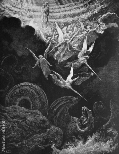 canvas print picture The war with the dragon