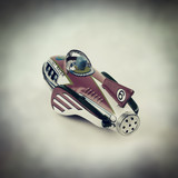 retro tin rocket toy